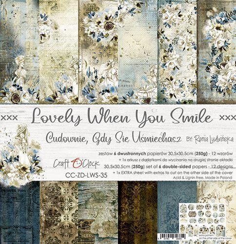 Craft O`Clock - Paperpack - 305 x 305mm - Lovely When You Smile - CC-ZD-LWS-35
