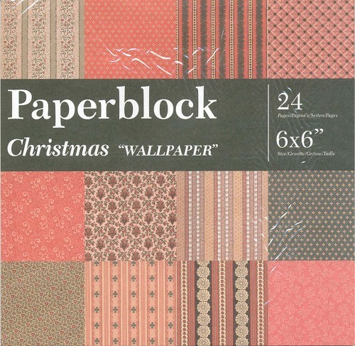 CreaMotion - Paperpack - 152 x 152mm - Christmas Wallpaper - BPB5548 99
