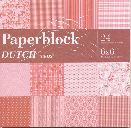 CreaMotion - Paperpack - 152 x 152mm - Dutch Reds - BPB5549 99