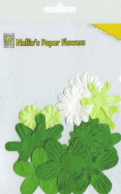 Nellie Snellen - Paper flowers: Christmas green - 162678