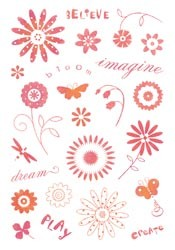 Inkadinkado - K&Company - Clearstamp - Garden Words - 95302