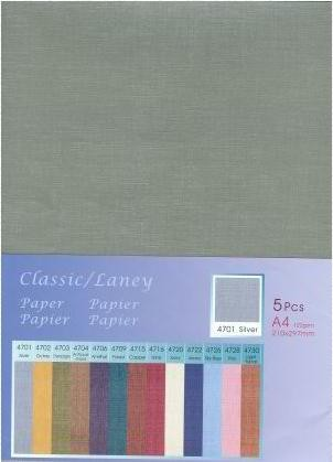 Hobby & Crafting Fun - Classic / Silky  Papier: Silver - 12047-4701