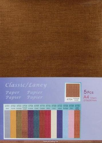 Hobby & Crafting Fun - Classic / Silky  Papier: Antique Gold - 12047-4704