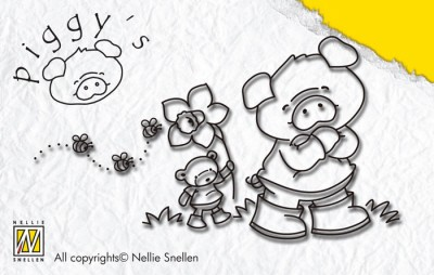 Nellie Snellen - Clearstamp - Piggy`s - Narcis - PI010