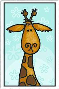Marianne Design - Corrie Kuipers - Clearstamp - Giraffe - CO9609