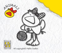 Nellie Snellen - Clearstamp - Animals - Duck girl - ANI002