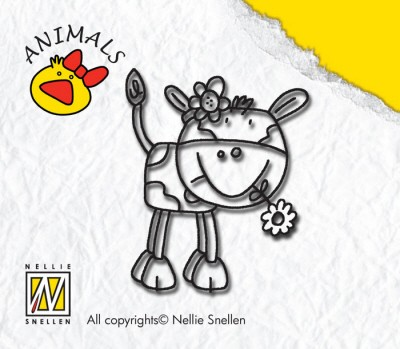 Nellie Snellen - Clearstamp - Animals - Cow girl - ANI003
