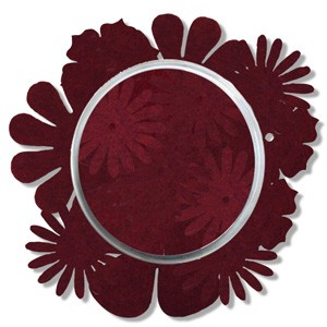 CreaMotion - Vilten bloemen: Dark red - BE414799
