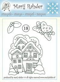 Marij Rahder - Clearstamp - No. 18 - Winter