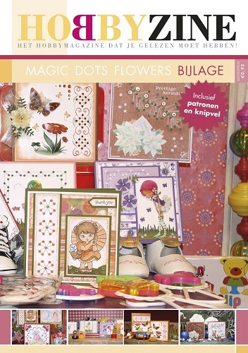 HobbyZine - Bijlage nr 1 - Magic Dots Flower HZN002a