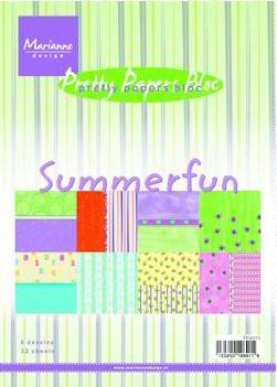 Marianne Design - Paperpack - Pretty Papers - Summer fun - PK9073