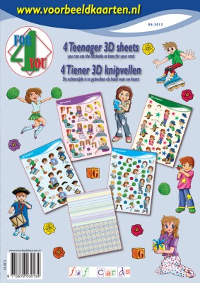 F & F Cards - 3D-kaartenboek - 4 For you - Teenager - S4-3013