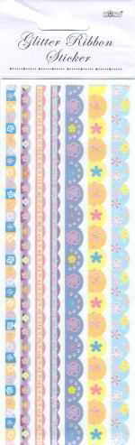 Hono - Glitter Ribbon Sticker - FSG400015