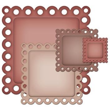 Spellbinders - Die - Nestabilities - Decorative Elements - Eyelet Squares
