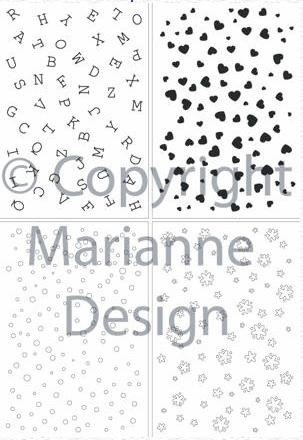 Marianne Design - Clearstamp - Letters and motifs - CS0846