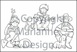 Marianne Design - Tiny`s - Clearstamp - Boys - TC0815