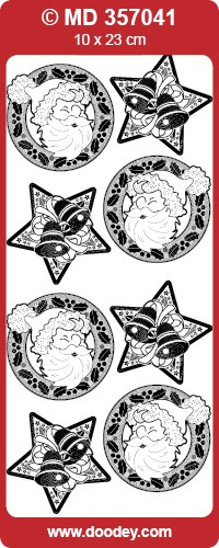 Doodey - Stickervel - Transparant - Kerst: Goud - MD357041