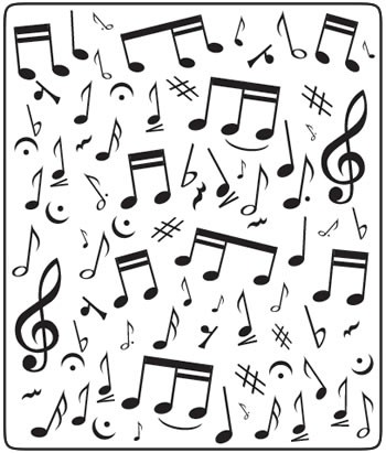 Crafts-Too - Embossingfolder - Musical notes - CTFD3029