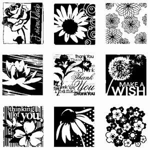 Inkadinkado - Clearstamp - Flowers - 60-30164