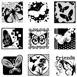 Inkadinkado - Clearstamp - Butterflies - 60-30165