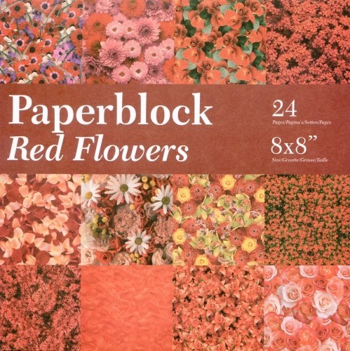 CreaMotion - Paperpack - Red Flowers - BPB424299