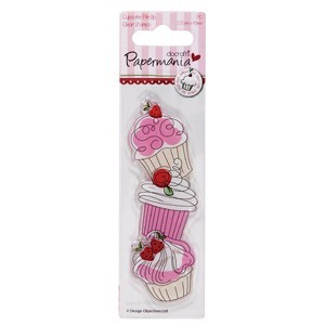 Papermania - Clearstamp - Little cake shoppe - Cupcake pile up - PMA907202