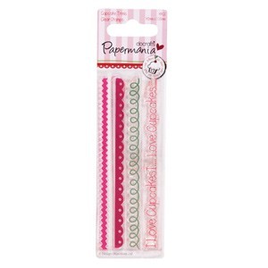 Papermania - Clearstamp - Little cake shoppe - Trims - PMA907201