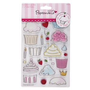 Papermania - Clearstamp - Little cake shoppe - Cupcakes - PMA907200