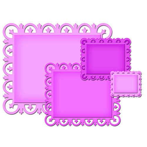 Spellbinders - Die - Nestabilities - Decorative Elements - Fleur de Lis Rectangles