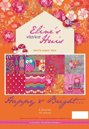 Marianne Design - Pretty Papers - Paperpack - Eline`s Winter Huis - Happy & Bright - PB7035