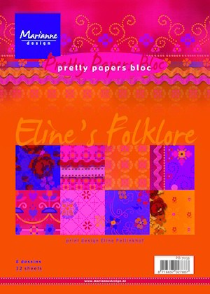 Marianne Design - Paperpack - Pretty Papers - Eline`s Folklore - PB7033
