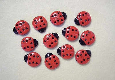 Hoca - Knopen - Favorite Findings - Ladybugs - 160