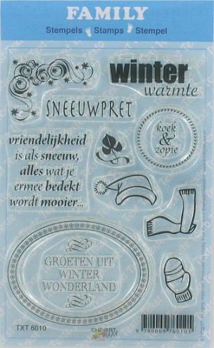 Doe Maar Creatief - Family - Clearstamp - Winter - TXT6010