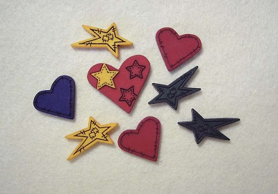 Hoca - Knopen - Favorite Findings - Hearts `n` stars - 471