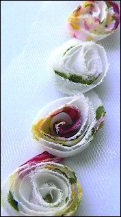 Marianne Design - Flower Ribbon: White, red, green