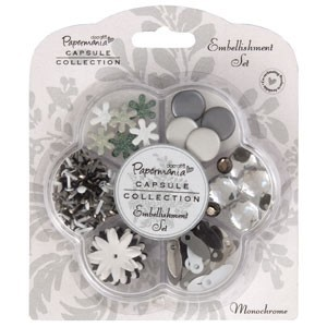 Papermania - Embellishment - Set: Monochrome - PMA3562100