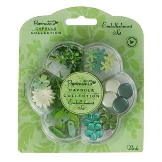 Papermania - Embellishment - Set: Verde - PMA3562101