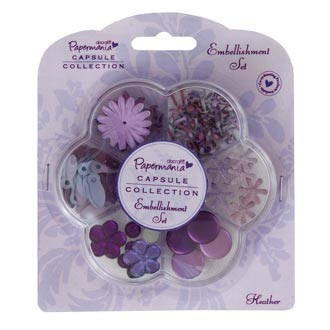 Papermania - Embellishment - Set: Heather - PMA3562103