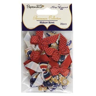 Papermania - Strikken / bows - Persimmon Collection  - PMA3671205