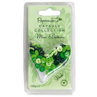 Papermania - Mini Buttons - Polka: Verde - PMA3541101