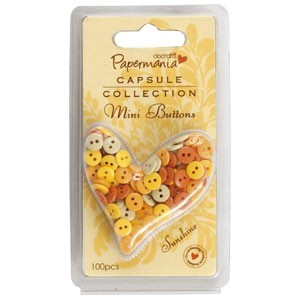 Papermania - Mini Buttons - Polka: Sunshine - PMA3541104