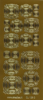 Crealies - Stickervel - 3D-sticker: Goud