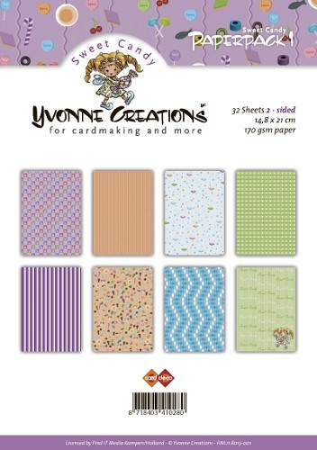 Yvonne Creations -  Paperpack - Sweet Candy - FIM.11.8013-001
