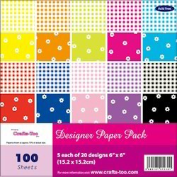 Crafts-Too - Paperpack - Gingham and Flowers - CT20631-2301