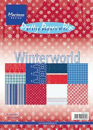 Marianne Design - Paperpack - Pretty Papers - Winter world - PK9077