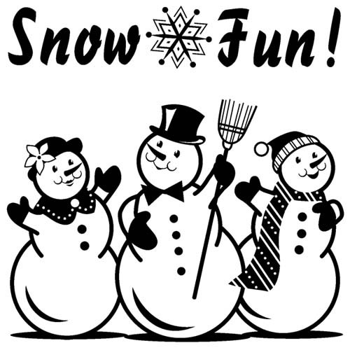 Inkadinkado - Clearstamp - Snow fun - 60-30263