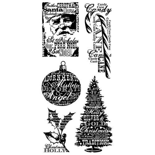 Inkadinkado - Clearstamp - Christmas Words - 60-30219