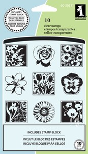 Inkadinkado - Clearstamp - Spring flowers - 60-30311