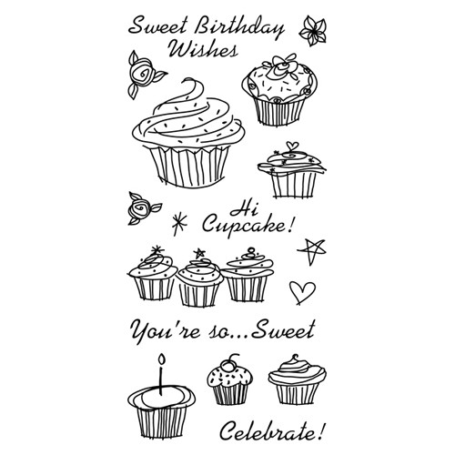 Inkadinkado - Clearstamp - Birthday Cupcake - 97628