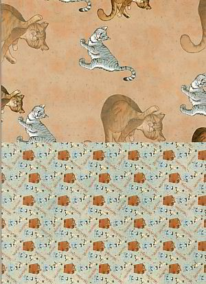 Design House - Achtergrondpapier - Cats - 99072/3